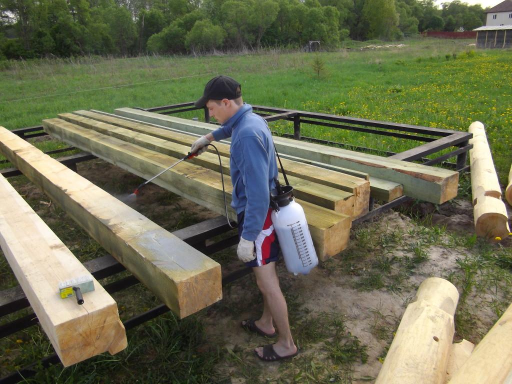 Антисептик для древесины своими руками фото